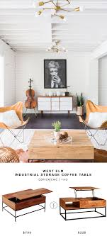 West Elm Coffee Table West Elm Industrial Storage Coffee Table Copycatchic