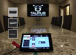 conference table with recessed monitors taurus home