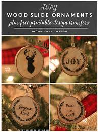 diy wood slice christmas ornaments upcycled treasures diy wood