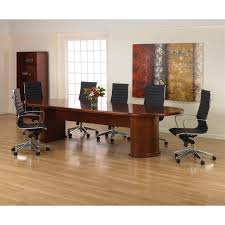 Racetrack Boardroom Table Sonoma 12ft Racetrack Conference Table Dark Cherry Wood U2013 Miramar
