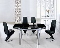 Glass Dining Table With 6 Chairs Delta Mega Extending Glass Dining Table Dining Table And Chairs