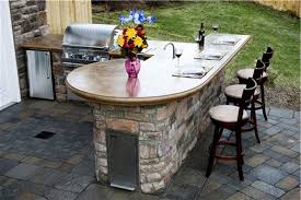 outdoor kitchen bar stools kitchen wooden outdoor kitchen counter option with stainless