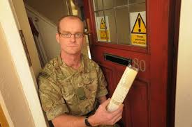 Plymouth Herald News Desk Delivery Driver Caught On Cctv Ripping Off Royal Marine U0027s