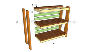 garden shelves plans howtospecialist how to build step by