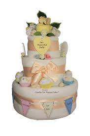 deluxe vintage unisex baby nappy cake coochy coo nappy cakes