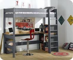 bureau superposé lit superpose avec bureau lit mezzanine clay anthracite bureau lit