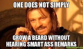 Smart Ass Meme - one does not simply grow a beard without hearing smart ass remarks