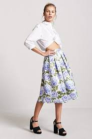 pleated skirt forever 21 floral box pleat high low skirt forever21