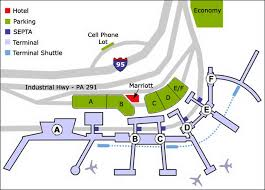 philadelphia international airport map airport parking map philadelphia airport parking map jpg
