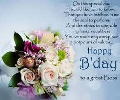 birthday card sayings boss