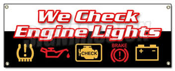 Engine Lights Amazon Com We Check Engine Lights Banner Sign Repair Automotive