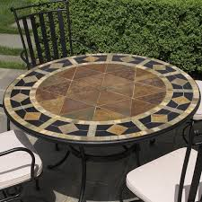 Mosaic Patio Furniture 5 Piece San Marco Mosaic Patio Dining Set From Alfresco