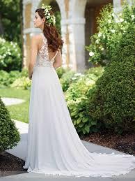 Chiffon A Line Wedding Dress 117174 Enchanting By Mon Cheri
