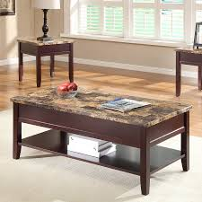 faux marble coffee table shop homelegance orton poplar faux marble coffee table at lowes com