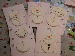 christmas snowman cotton wool thank you cards cards snowman and