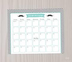 little man due date calendar game mustache personalized guess