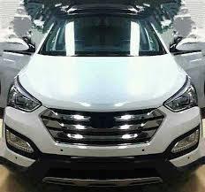 Santa Fe 2013 Interior 2013 Hyundai Santa Fe U2013 White Driving In Line