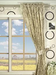 halo trendy embroidered plants rod pocket dupioni silk curtains