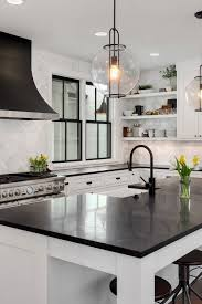 black kitchen countertops with white cabinets 50 black countertop backsplash ideas tile designs tips