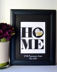 unique gifts for new unique housewarming gift new home address by bloomingdoordecor