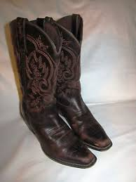 womens square toe boots size 11 womens durango crush square toe 11 cowboy leather brown