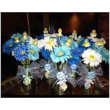 baby shower centerpieces boy it s a boy baby shower i made these for centerpiece decorations