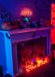 Purple Halloween Lights Our 2013 Halloween Living Room Our Little Cape Cod