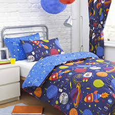 Outer Space Curtains Kids by Textile Warehouse Space Explorer Boys Kids Childrens Blue Duvet