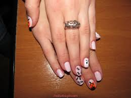 halloween gel polish manicure