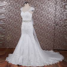 bling wedding dresses rsw614 bling bridal gowns belt cap sleeve lace