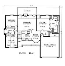 3 bedroom house floor plans with garage inspirational architecture