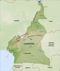 Gabon Africa Map by Cameroon Physical Map