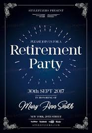 retirement psd flyer template 20891 styleflyers
