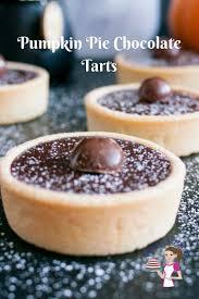 pumpkin pie chocolate tarts recipe veena azmanov