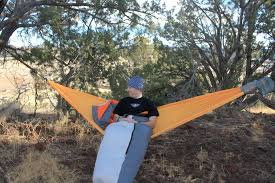 winter hammock camping staying warm on top your camping