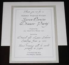 dinner party invitation card design features party dress online