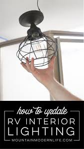 dome light fixture replacement how to update rv interior lighting mountainmodernlife com