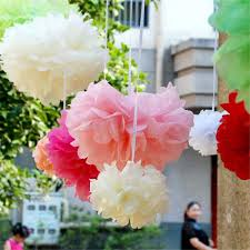 tissue paper pom poms paper flowers ball for wedding