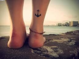 Lower Leg Tattoo Ideas Black Anchor Tattoo On Calf Of Leg Tattooshunter Com