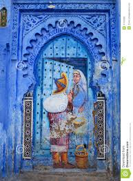 Morocco Blue City by Blue Medina Of Chefchaouen City In Morocco North Africa Royalty