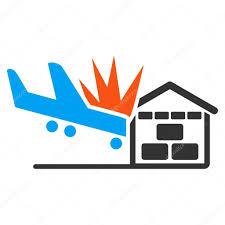 airplane hangar crash icon u2014 stock vector ahasoft 88703752