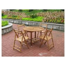 acacia folding round dining table merry products target