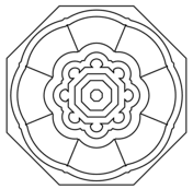 mandala with hearts pattern coloring page free printable