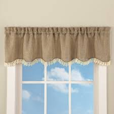 Window Valances Rustic Burlap Lace Window Valance From Collections Etc