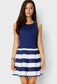 blue and white striped dress forever 21 naf dresses