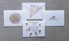diy pizza greeting cards pizza giveaway fearless captivations