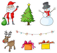 illustration of the different christmas symbols at the hilltop