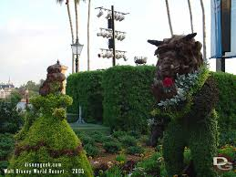 Mickey Mouse Topiary Epcot Flower U0026 Garden Festival U2013 Belle U0026 Beast Topiary Over The