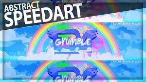speedart era gyumble rainbow abstract banner youtube