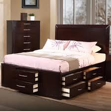 King Size Bed Frame Storage Furniture Home King Size Bed Frame With Plenty Drawers